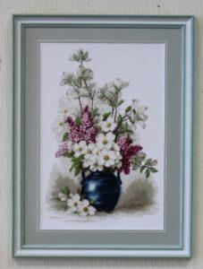 Вышивка цветы-min