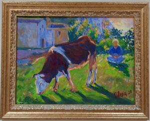 Живопись корова-min